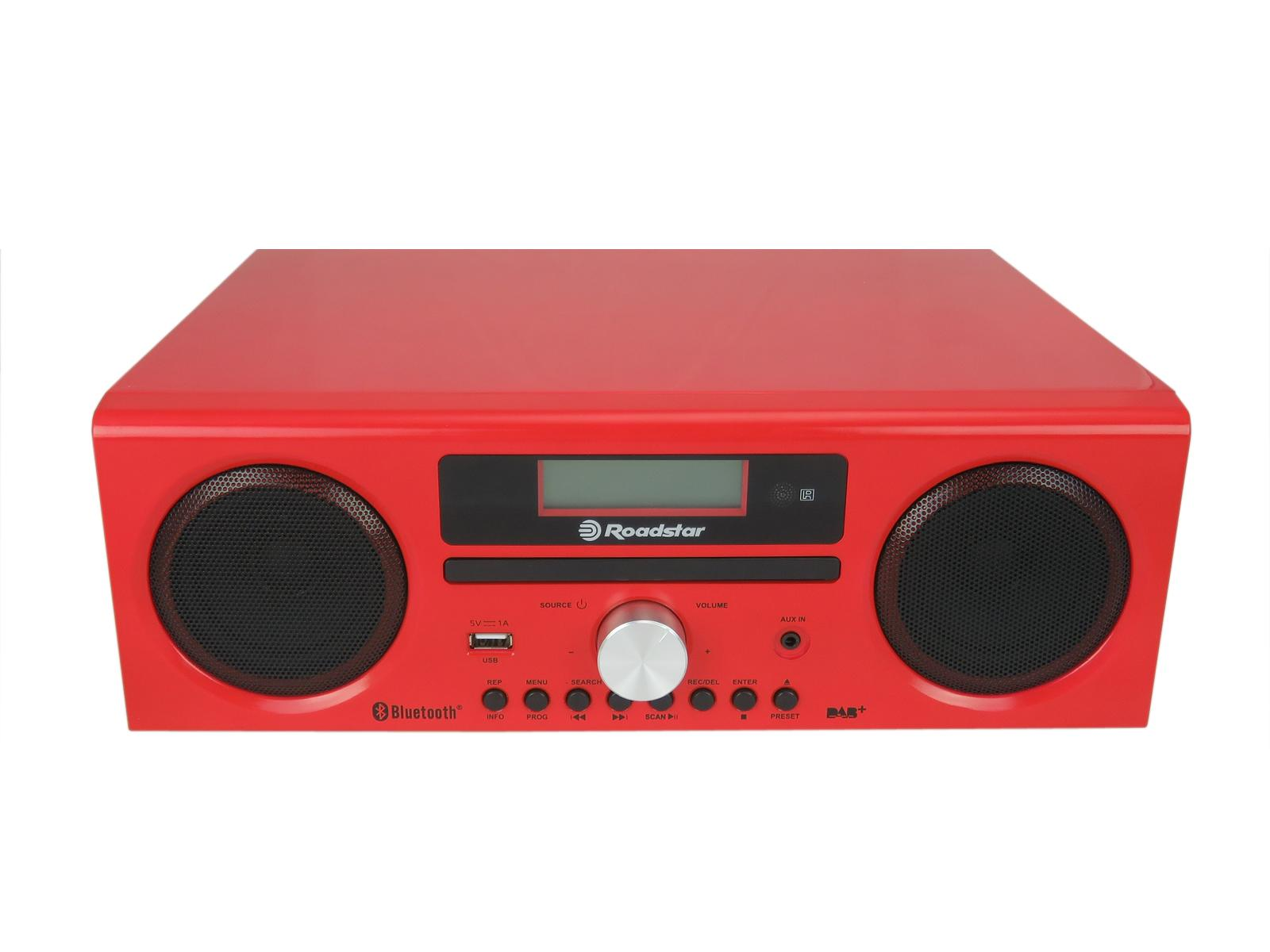 Roadstar HRA-9D+BT front in gloss red