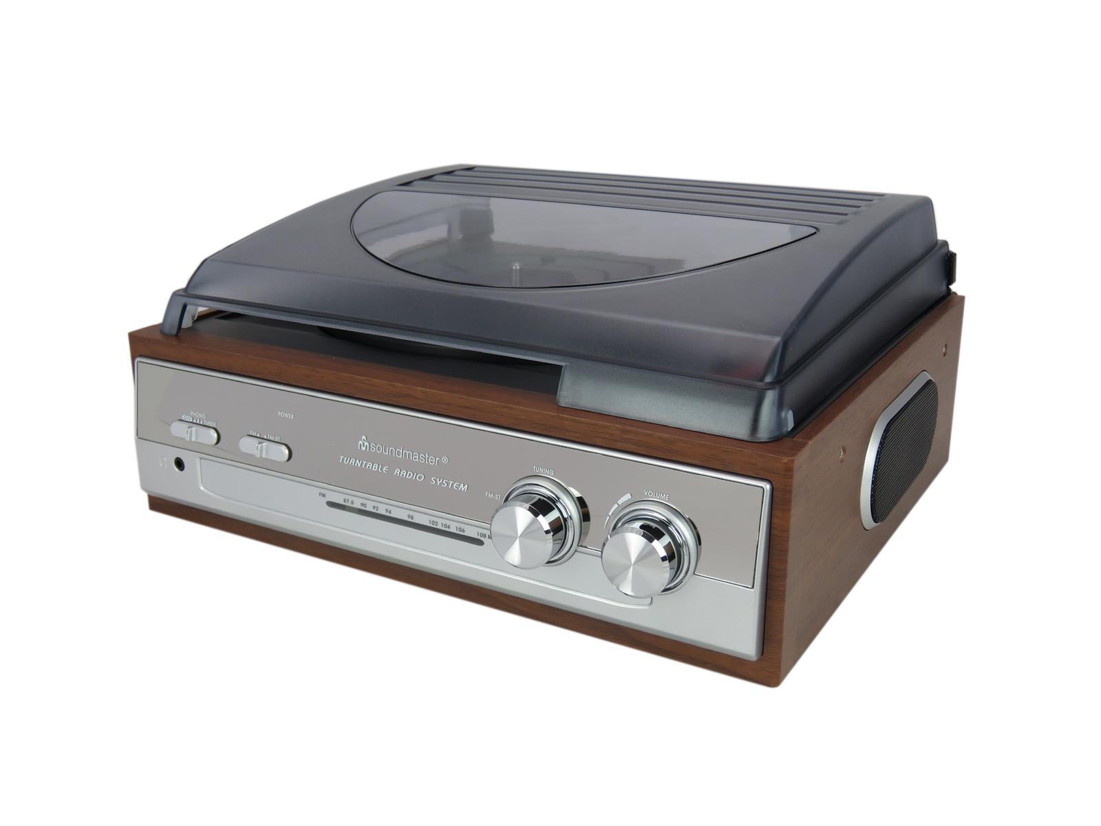 Buy Soundmaster Pl186h Retro Fm Radio Record Player Turntable