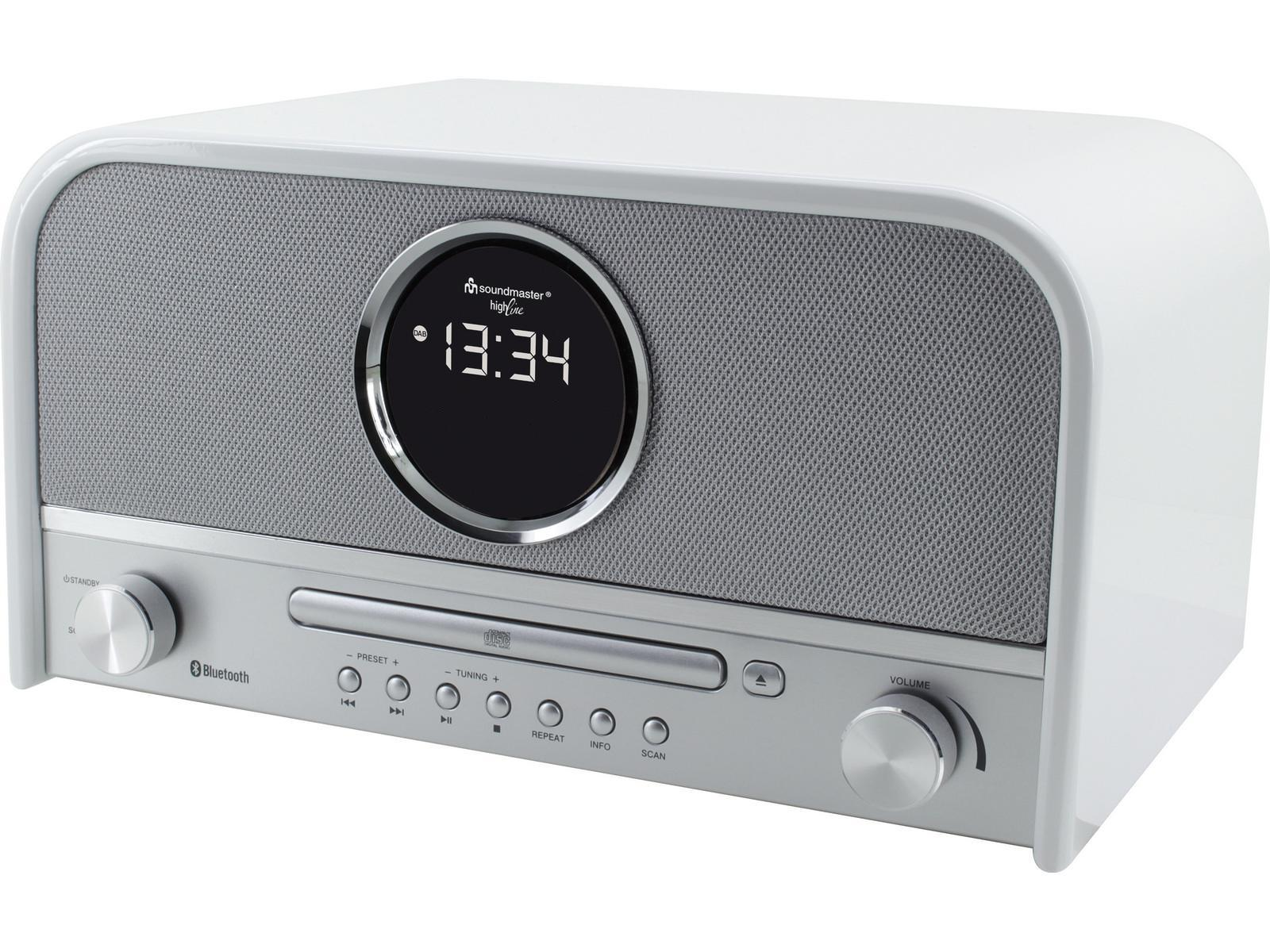 This soundmaster NR850 Retro Bluetooth Speaker with FM / DAB Radio & CD Player, in Dark Brown or White, is a high quality Retro style audio system that stands out as a striking feature in almost any room in the home.