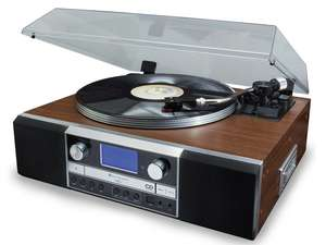 soundmaster PL905 Retro CD Writer Record Player Turntable