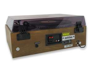 soundmaster PL880 Retro Turntable HiFi System image of rear inputs