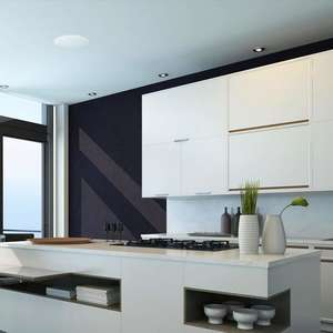 Kitchen environment with lithe audio bluetooth ceiling speaker at top
