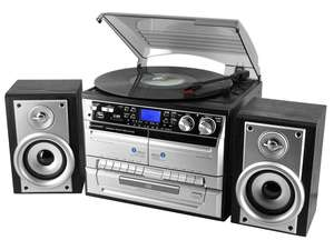soundmaster MCD4500USB HiFi System with FM Radio, CD Player & Record Player Turntable