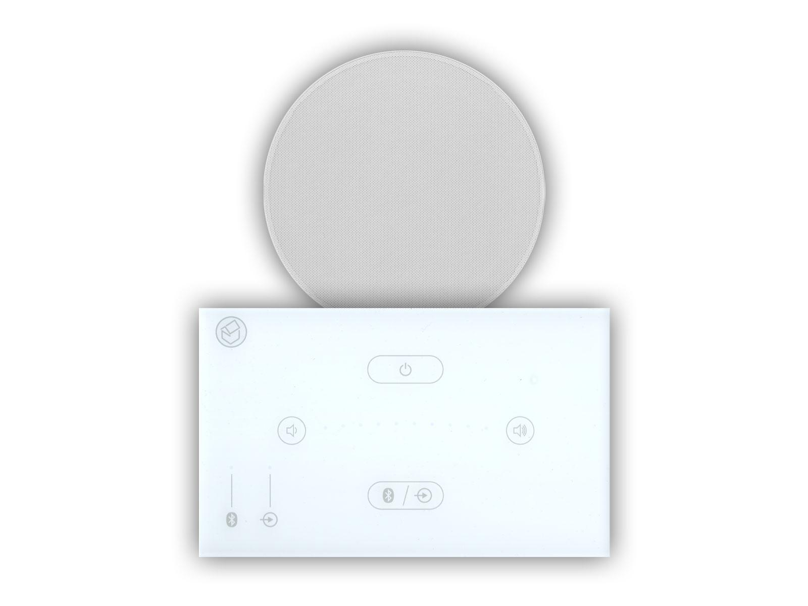 Systemline E50 White with Qi65CST Ceiling Speaker
