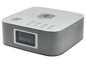 soundmaster UR411SI FM / DAB Alarm Clock Radio with Bluetooth & Qi Wireless Charging