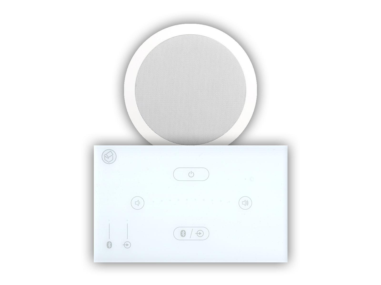 "Systemline E50 White & 6.5"" Qi65CWST Wetroom Ceiling Speaker"