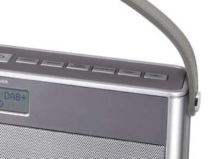 handle close up of soundmaster DAB750SI Portable Rechargeable Bluetooth FM / DAB Radio