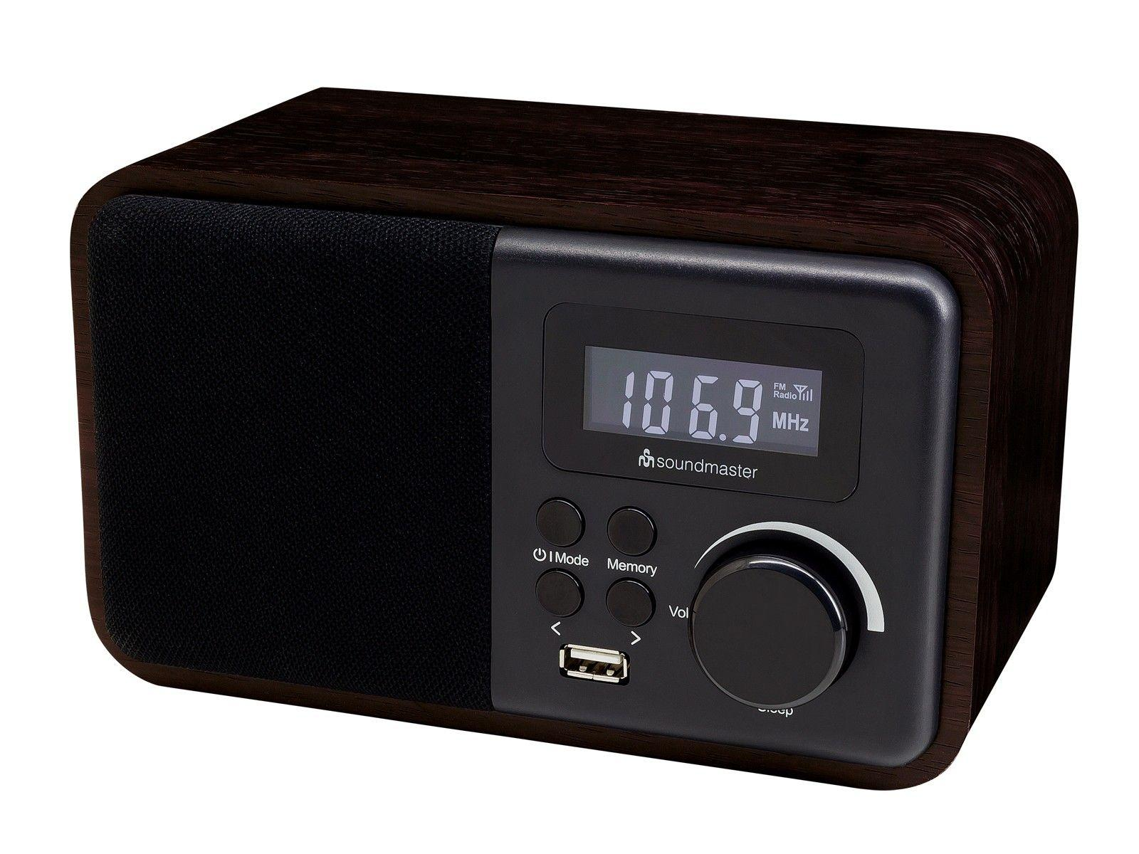 soundmaster TR250 Portable Bluetooth FM Radio Alarm Clock