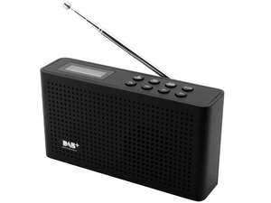 full view of soundmaster DAB150 Rechargeable Portable FM / DAB Radio in black