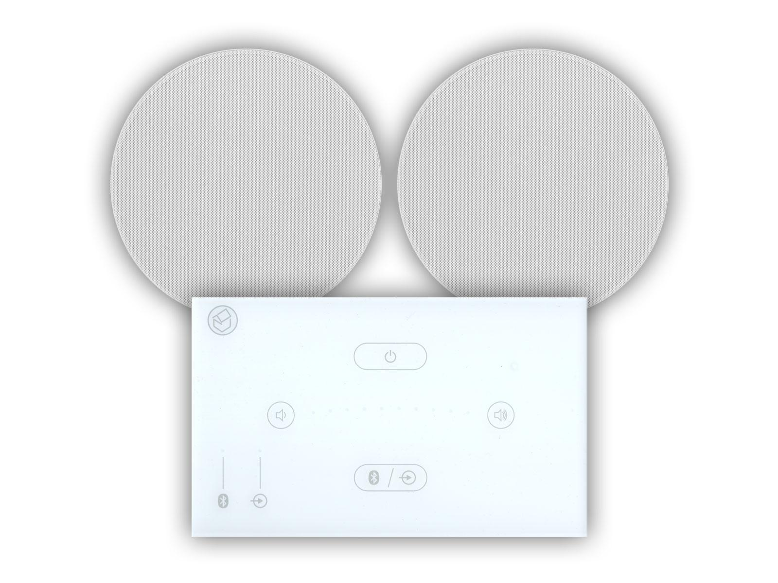 "Systemline E50 White & 6.5"" Qi65CB Ceiling Speakers"