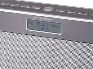 display screen of soundmaster DAB750SI Portable Rechargeable Bluetooth FM / DAB Radio