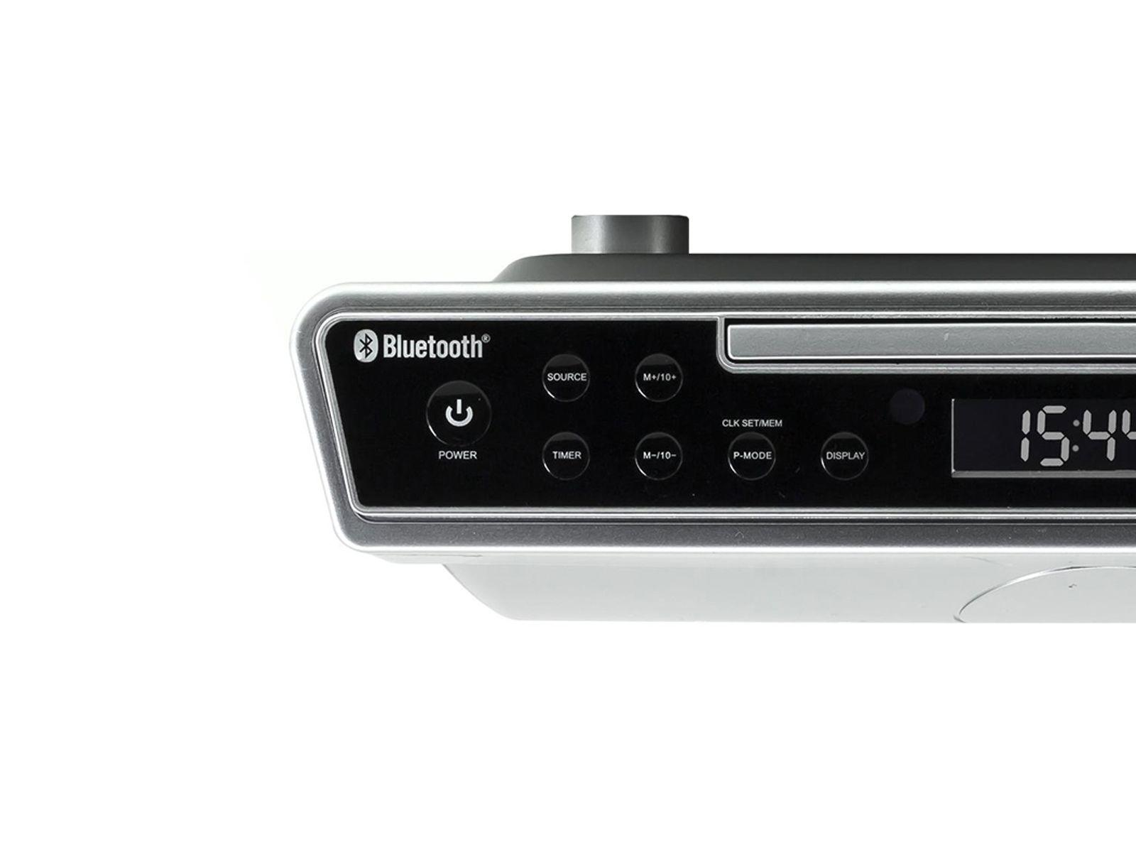 Side Close Up Of Soundmaster Ur2090si Under Cabinet Kitchen Fm Radio With Bluetooth Cd Player