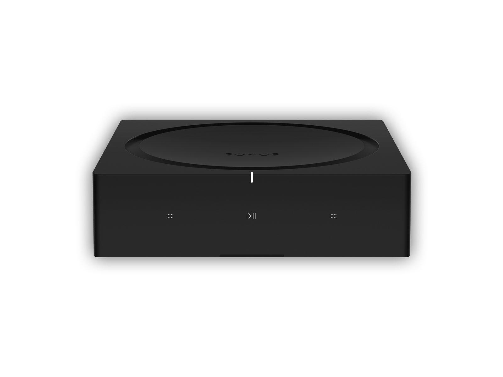 face on view of black sonos amp