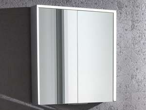 Roper Rhodes Lyric Illuminated Bluetooth Bathroom Mirror Cabinet double door in bathroom