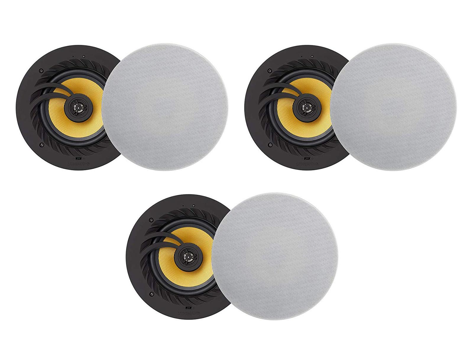 three sets of speakers Lithe Audio Three Zone Bluetooth Ceiling Speaker System (6 Speakers)