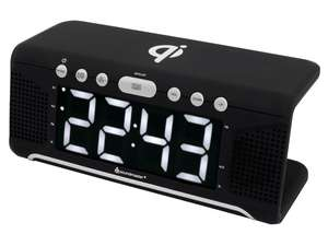 soundmaster UR800SW Alarm Clock with FM Radio & Qi Wireless Charging