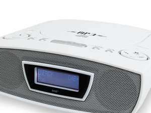 The soundmaster URD480 FM / DAB Clock Radio & CD Player, finished in white or black, is a superb bedside alarm clock featuring a range of audio sources.