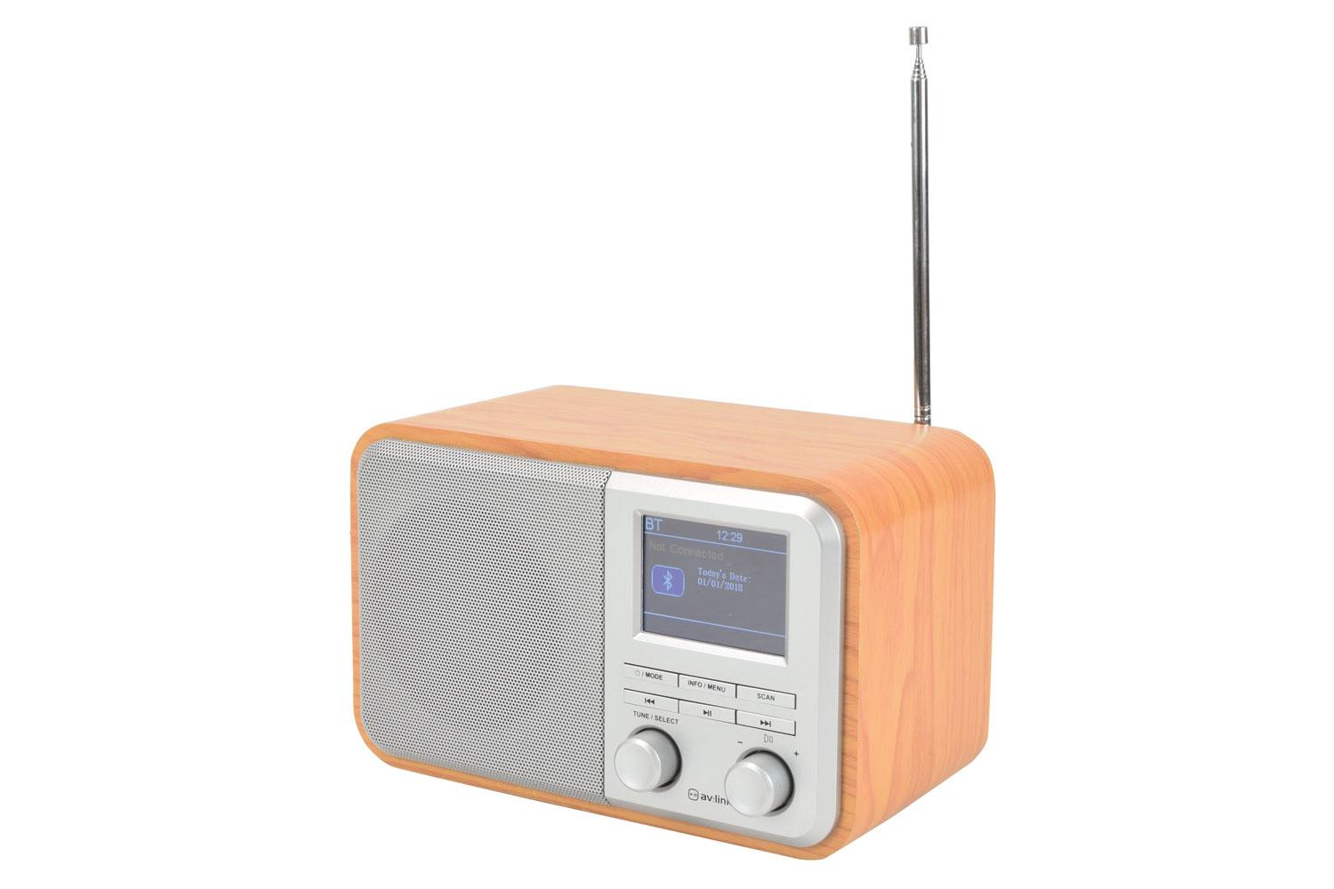 Buy Av Link Rechargeable Dab Radio With Bluetooth