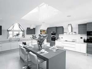 large white kitchen with systemline e100