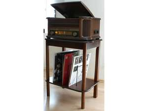 This soundmaster SF510 Wooden Table Stand for NR ClassicLine Music Systems is the perfect accessory to accompany a number of wood-finished soundmaster products.