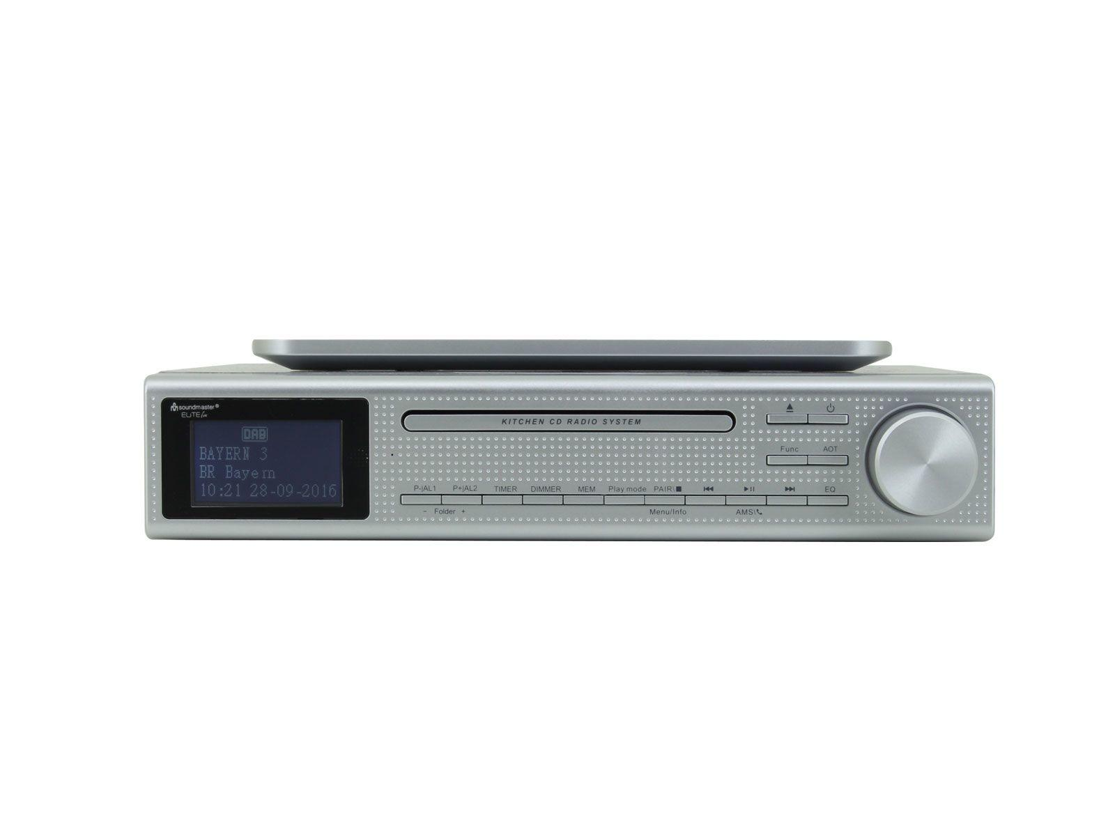 soundmaster UR2195SI Under Cabinet Radio with Bluetooth & CD Player