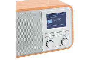 zoom right hand side view of AV:Link Rechargeable FM & DAB+ Radio with Bluetooth