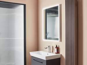 fable mirror in bathroom angle view