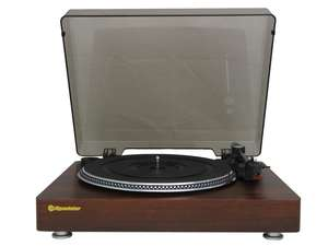 open front view of Roadstar TT-385BT-T Record Player Turntable