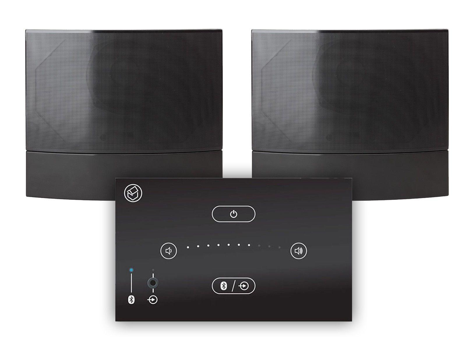 Systemline E50 & M-OW2 Black On Wall Speakers