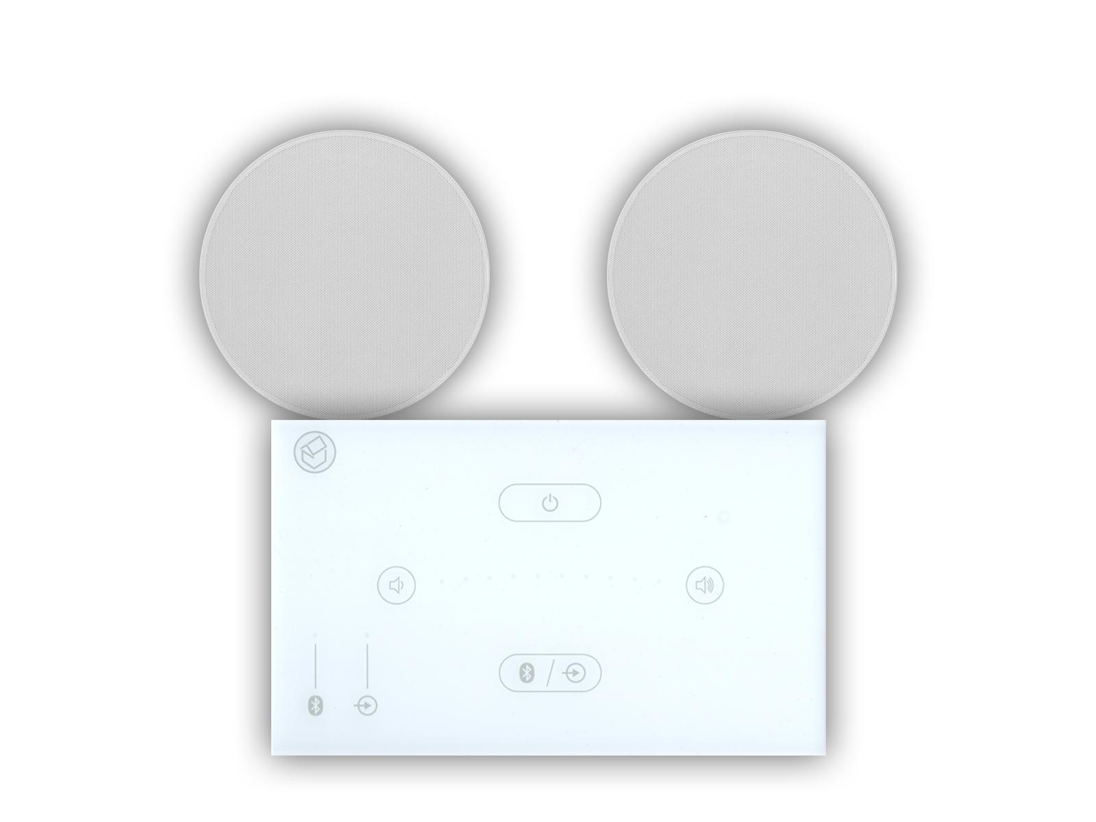 Systemline E50 White With Qi50CW Bathroom Ceiling Speakers