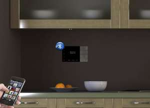 systemline e100 in brown wall kitchen