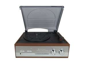 soundmaster PL186H Retro FM Radio Record Player Turntable