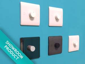 This On/Off Volume Control Switch, in plain white, can be used with a wide range of home audio speaker systems to select volume of your choosing.