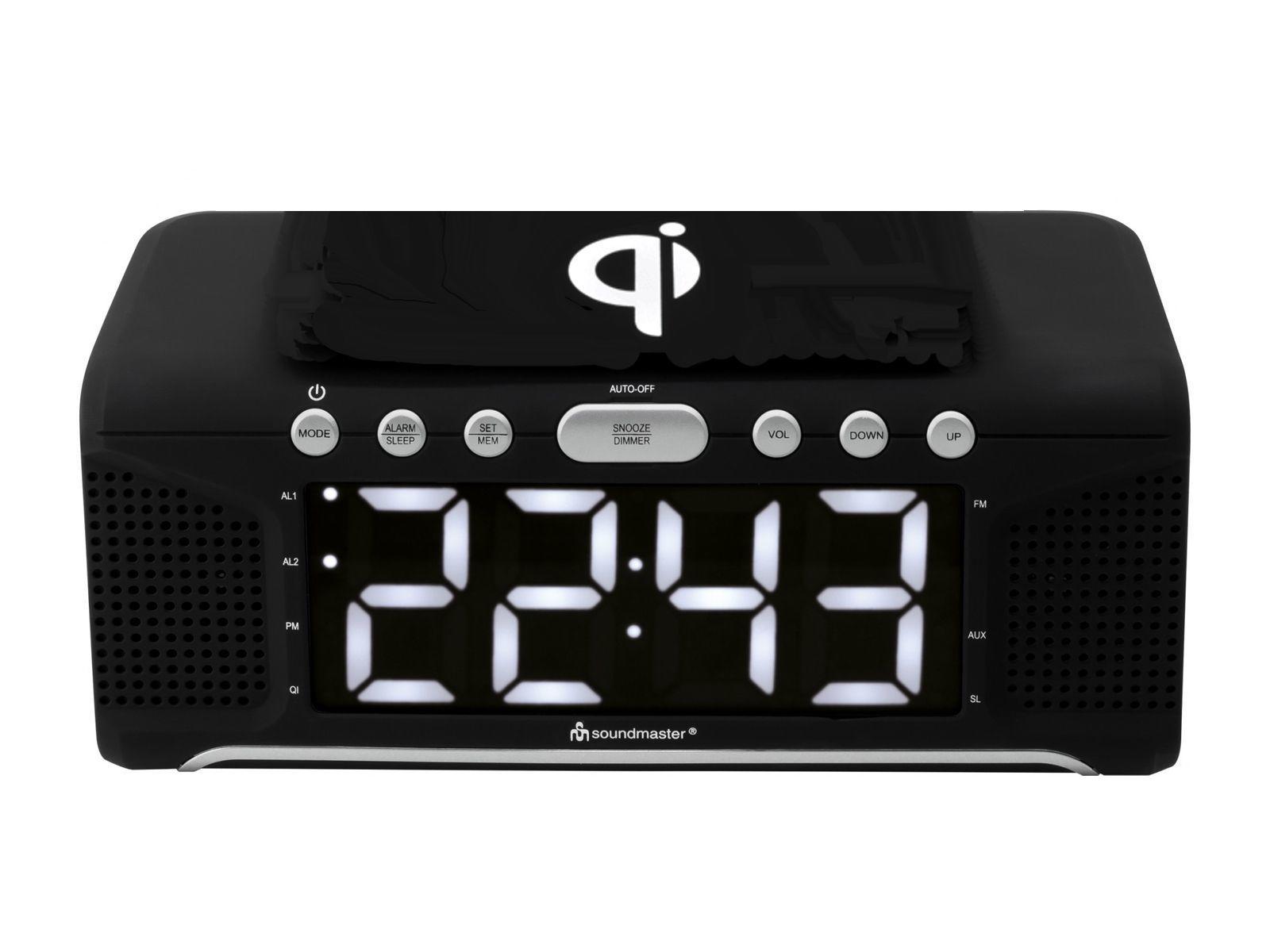 Buy Soundmaster Ur800sw Alarm Clock Radio Amp Qi Wireless