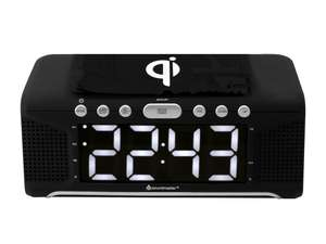 The soundmaster UR800SW Alarm Clock with FM Radio & Qi Wireless Charging Station is a brilliant and cost effective solution for combined audio and device charging.