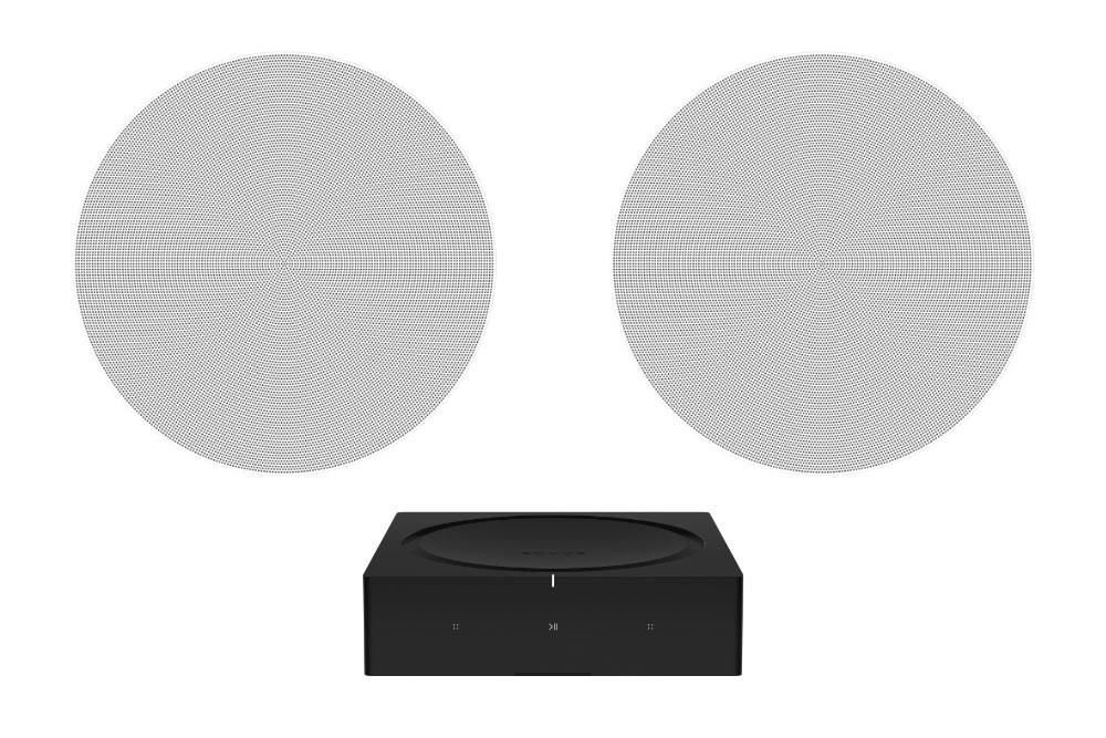 sonos amp and pair of in-ceiling speakers