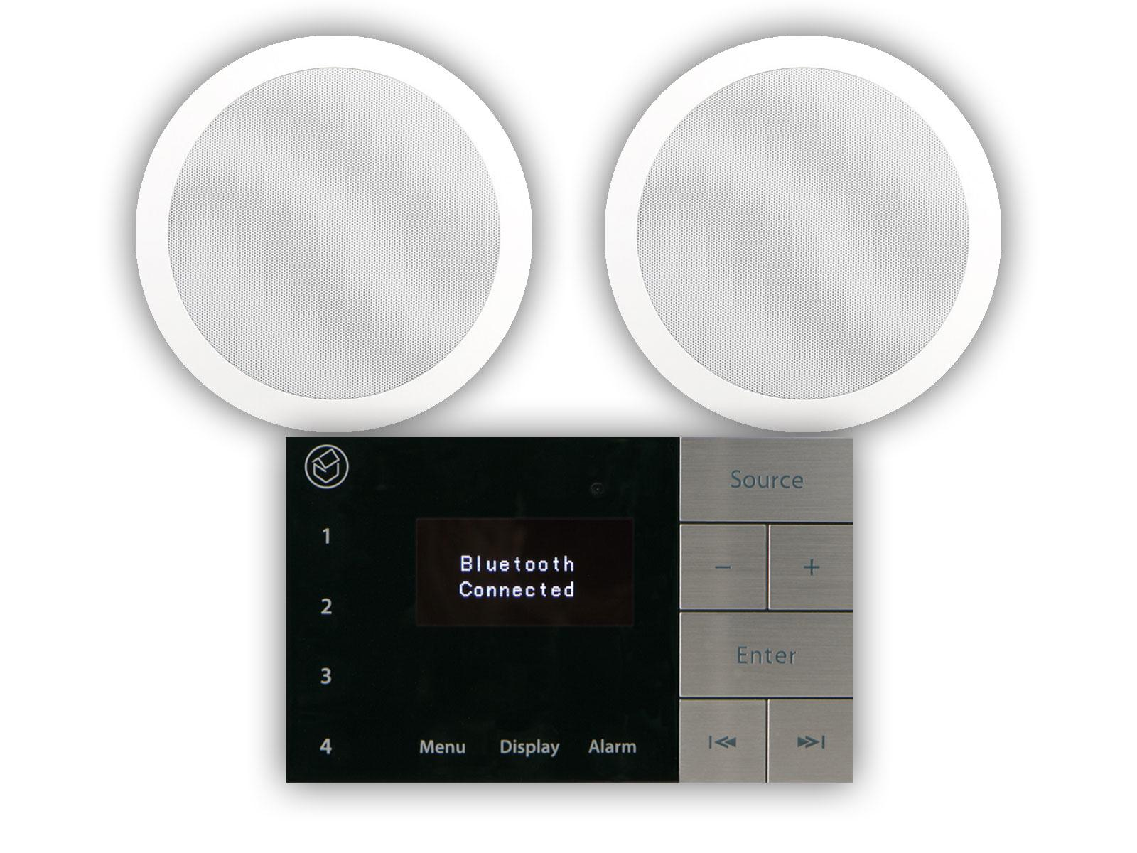 "Systemline E100 with 6.5"" Qi65CW Bathroom Ceiling Speakers"