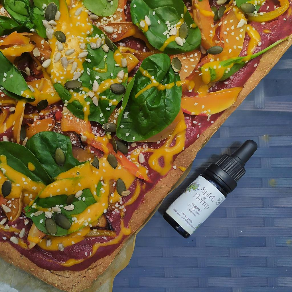 Buckwheat Pizza with CBD Sauce