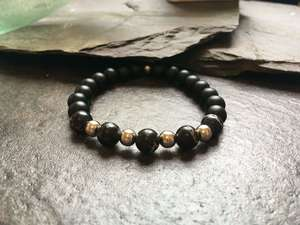 Black and Silver Metal Beaded Fashion Bracelet-Liv Beads-Olivia Esme Jewellery and Gifts