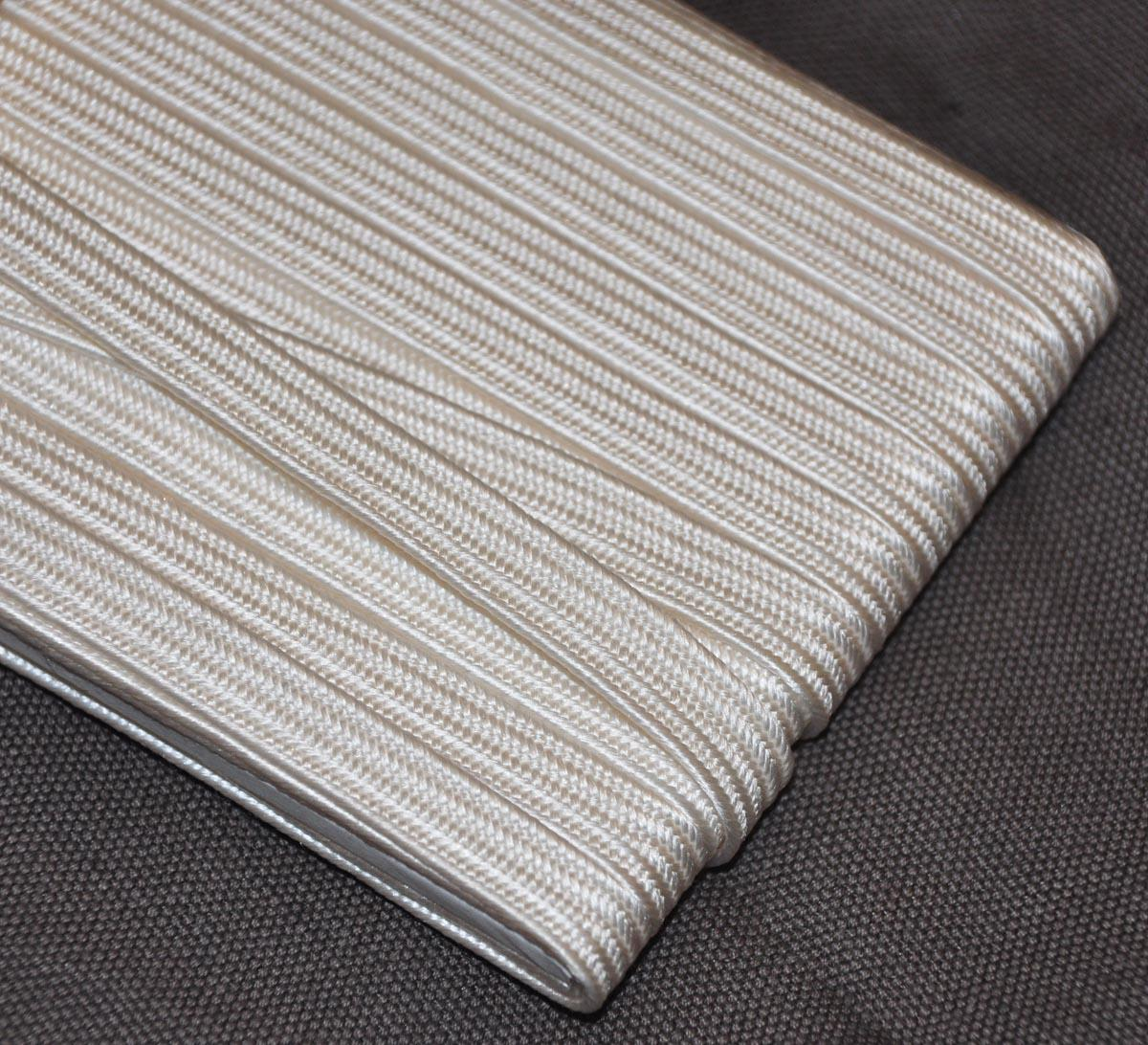 grey tetsu 6mm Japanese silk tsuka-ito