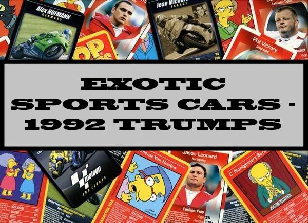 Exotic Sports Cars - 1992 Waddingtons