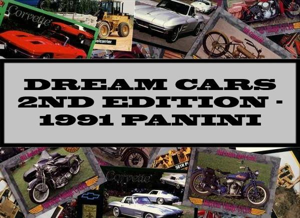 Dream Cars 2nd Edition - 1992 Panini