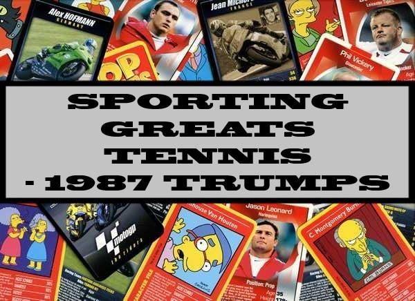 Sporting Greats  Tennis - 1987 Ace