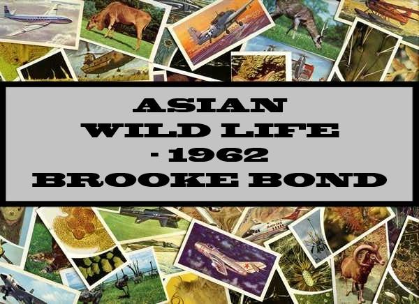 Asian Wild Life - 1962 Brooke Bond