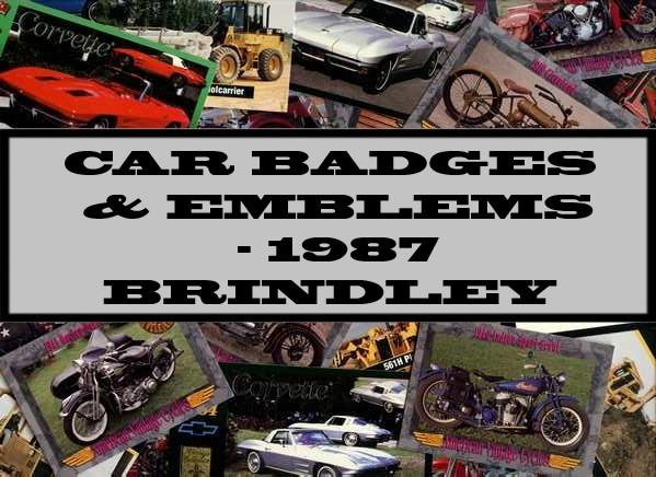 Car Badges & Emblems - 1987 Brindley