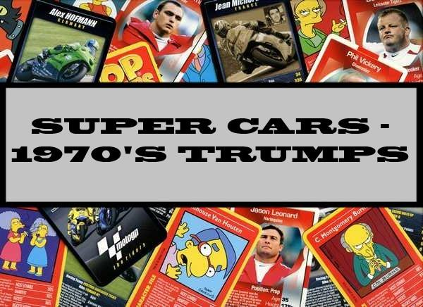 Super Cars - 1970's Dubreq