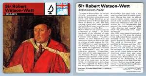 Personalities Sir Robert Watson-Watt WW2 Edito-Service SA 1977 Card