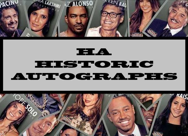 HA / Historic Autographs