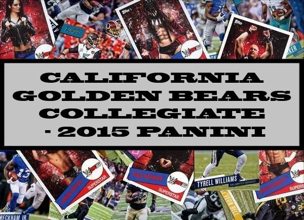 California Golden Bears Collegiate - 2015 Panini