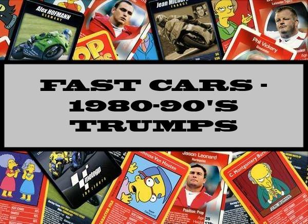 Fast Cars - 1980-90's Waddingtons